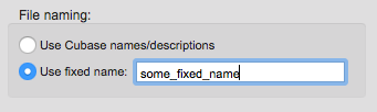 File naming settings